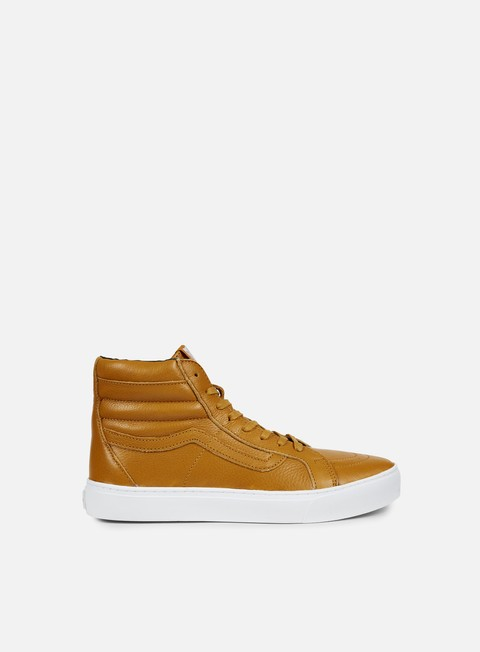 sneakers vans sk8 hi cup leather gold