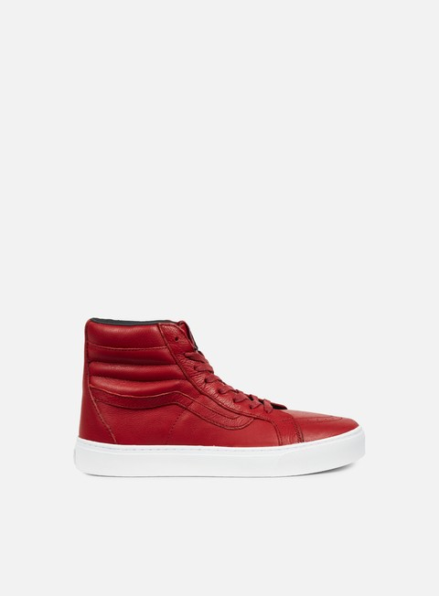 sneakers vans sk8 hi cup leather red