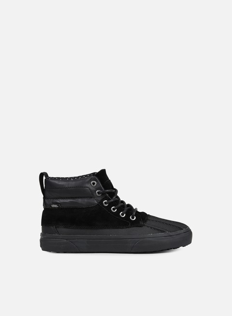 sneakers vans sk8 hi del pato mte scotchgard black polka dots