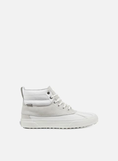 sneakers vans sk8 hi del pato mte scotchgard blanc de blanc polka dots