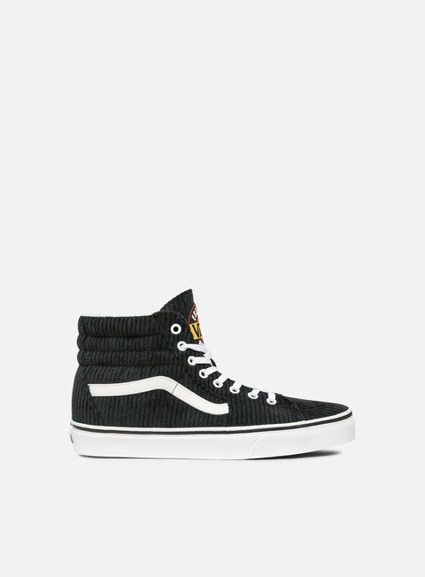 sneakers vans sk8 hi design assembly black true white