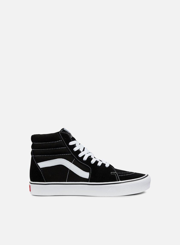 scarpe vans bianche e nere alte