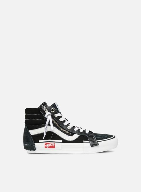 sneakers vans sk8 hi lx cut and paste black true white