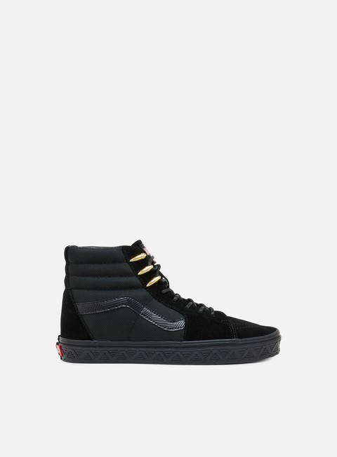 sneakers vans sk8 hi marvel black panther black