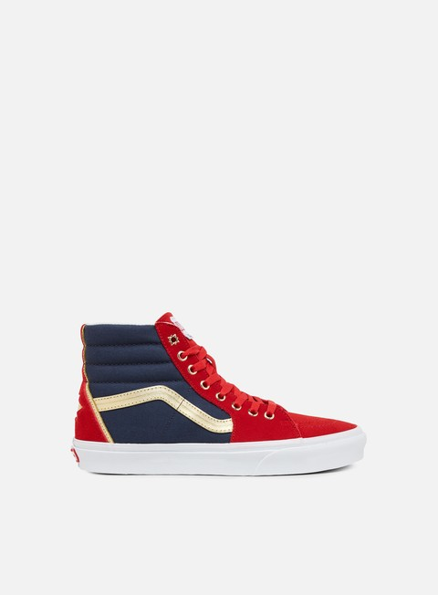 sneakers vans sk8 hi marvel captain marvel true white