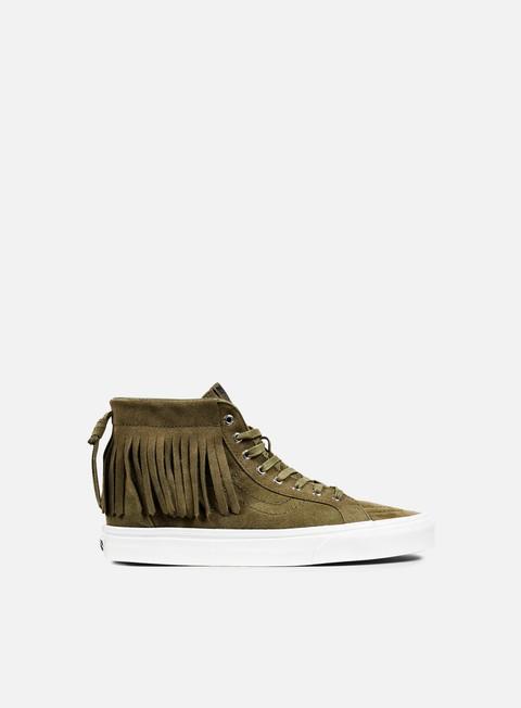 sneakers vans sk8 hi moc suede ivy green blanc de blanc