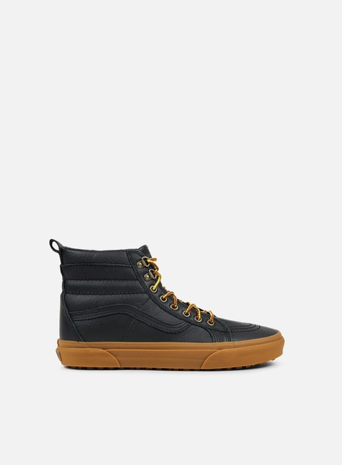 sneakers vans sk8 hi mte black leather gum
