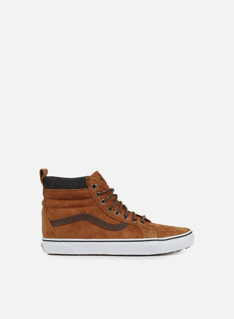 sneakers vans sk8 hi mte glazed ginger plaid