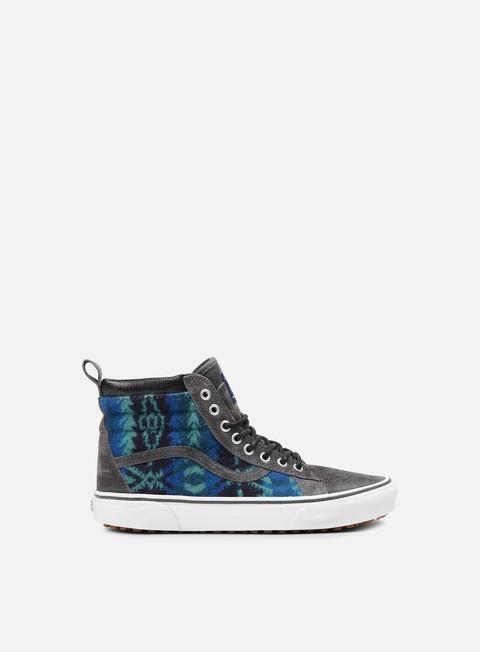 sneakers vans sk8 hi mte pendleton tribal asphalt