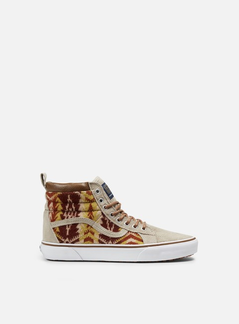 sneakers vans sk8 hi mte pendleton tribal tan