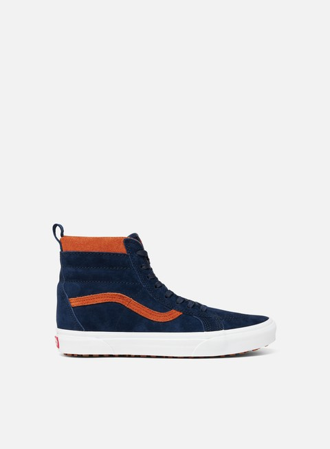 sneakers vans sk8 hi mte suede dress blues