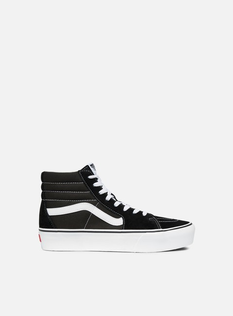 sneakers vans sk8 hi platform 2 black true white