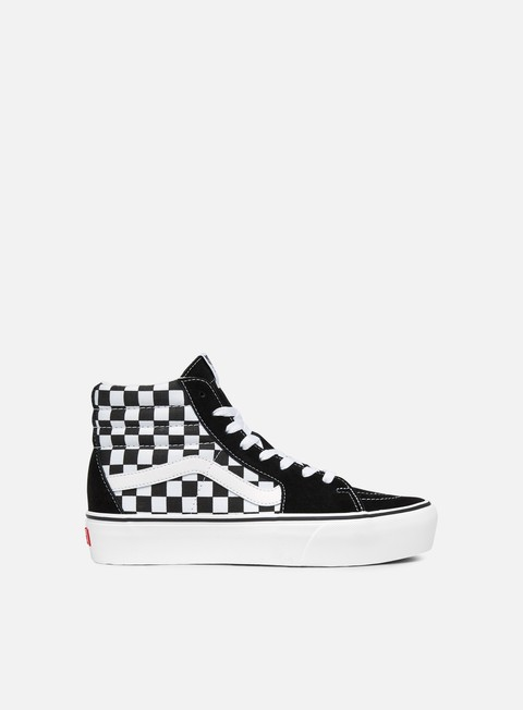 sneakers vans sk8 hi platform 2 checkerboard true white