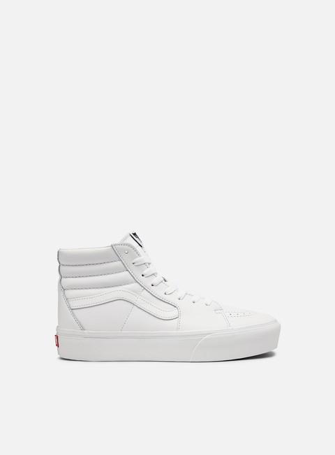 Outlet e Saldi Sneakers Alte Vans Sk8 Hi Platform 2.0 Leather