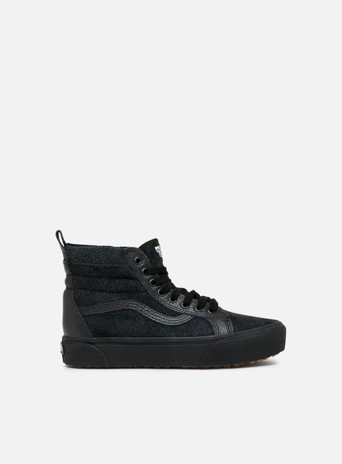 sneakers vans sk8 hi platform mte black black