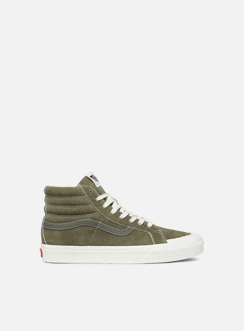 sneakers vans sk8 hi reissue 13 vintage military dusty olive