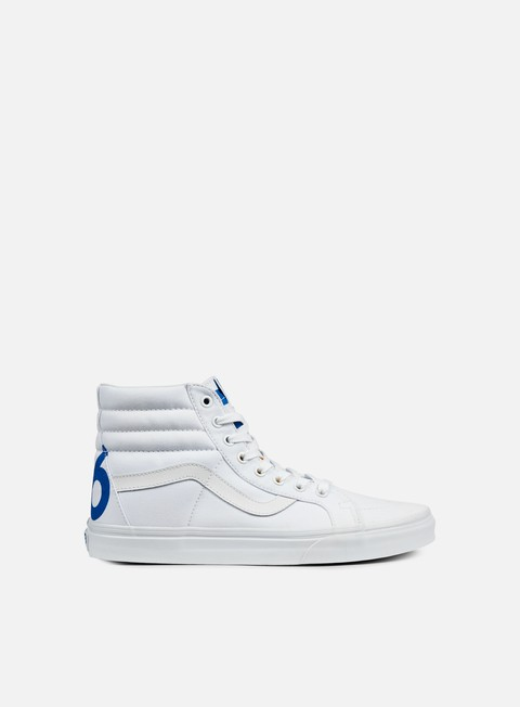 sneakers vans sk8 hi reissue 1966 true white blue red