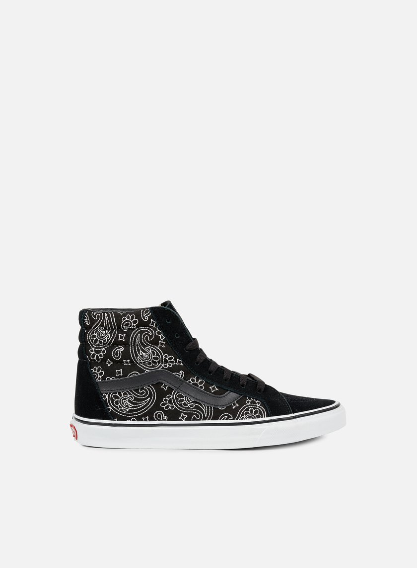Vans - Sk8 Hi Reissue Bandana Stitch, Black/True White
