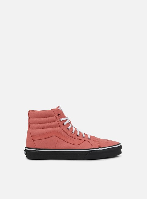 sneakers vans sk8 hi reissue black outsole faded rose black