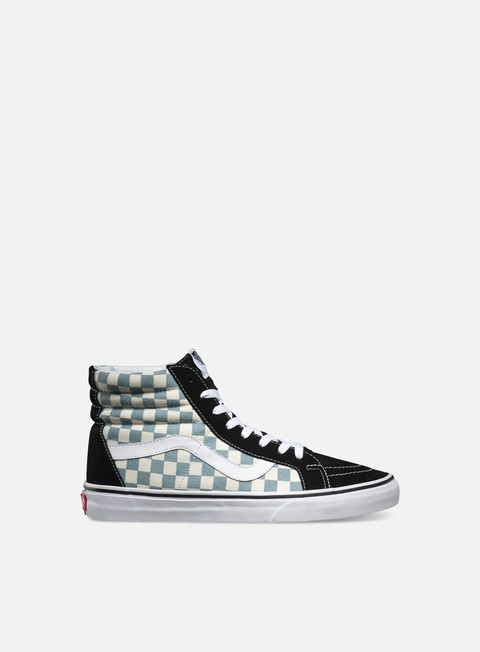 sneakers vans sk8 hi reissue checkerboard black citadel