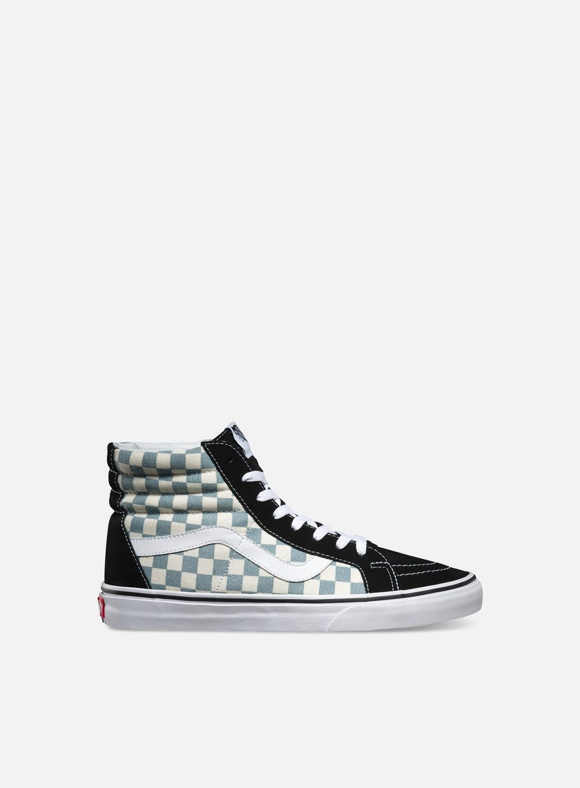 Vans - Sk8 Hi Reissue Checkerboard, Black/Citadel
