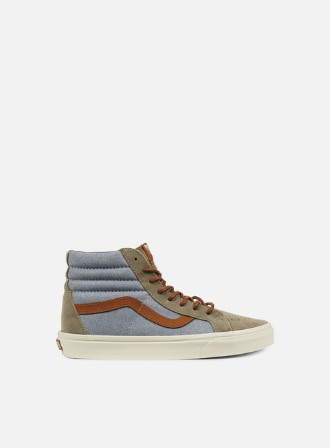sneakers vans sk8 hi reissue dx brushed blue mirage desert