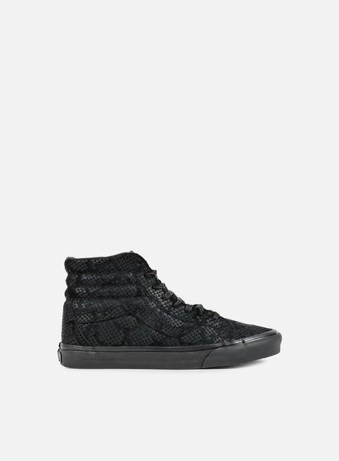 sneakers vans sk8 hi reissue dx reptile black