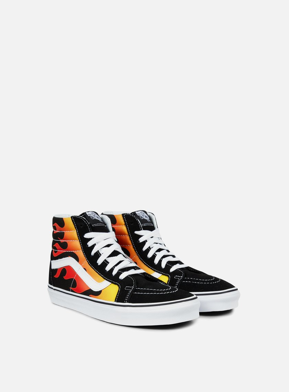 scarpe vans alte fuoco