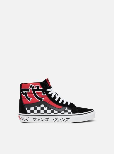 sneakers vans sk8 hi reissue japanese type racing red true white