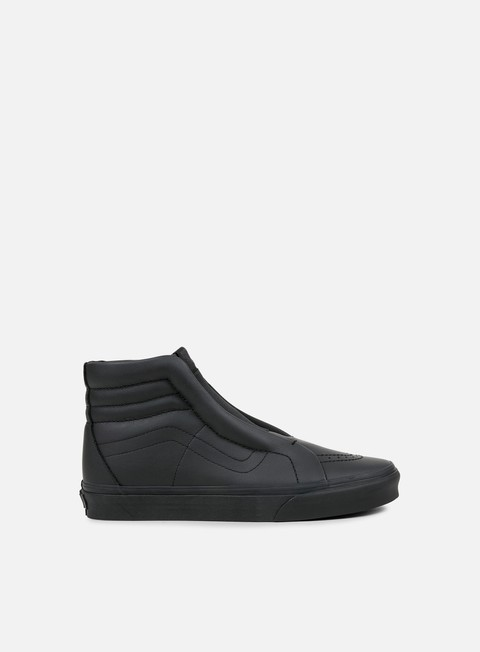 sneakers vans sk8 hi reissue laceless leather black