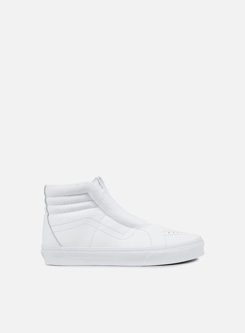 sneakers vans sk8 hi reissue laceless leather true white