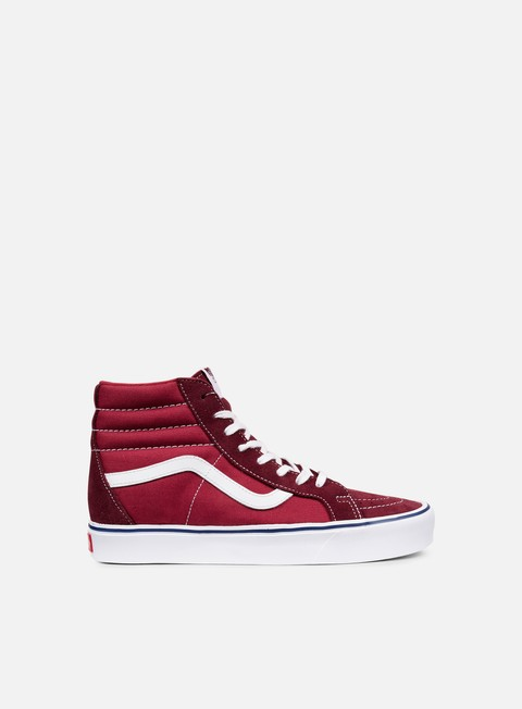 sneakers vans sk8 hi reissue lite throwback port royale tibetan red