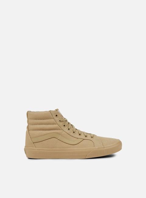 sneakers vans sk8 hi reissue mono surplus khaki khaki
