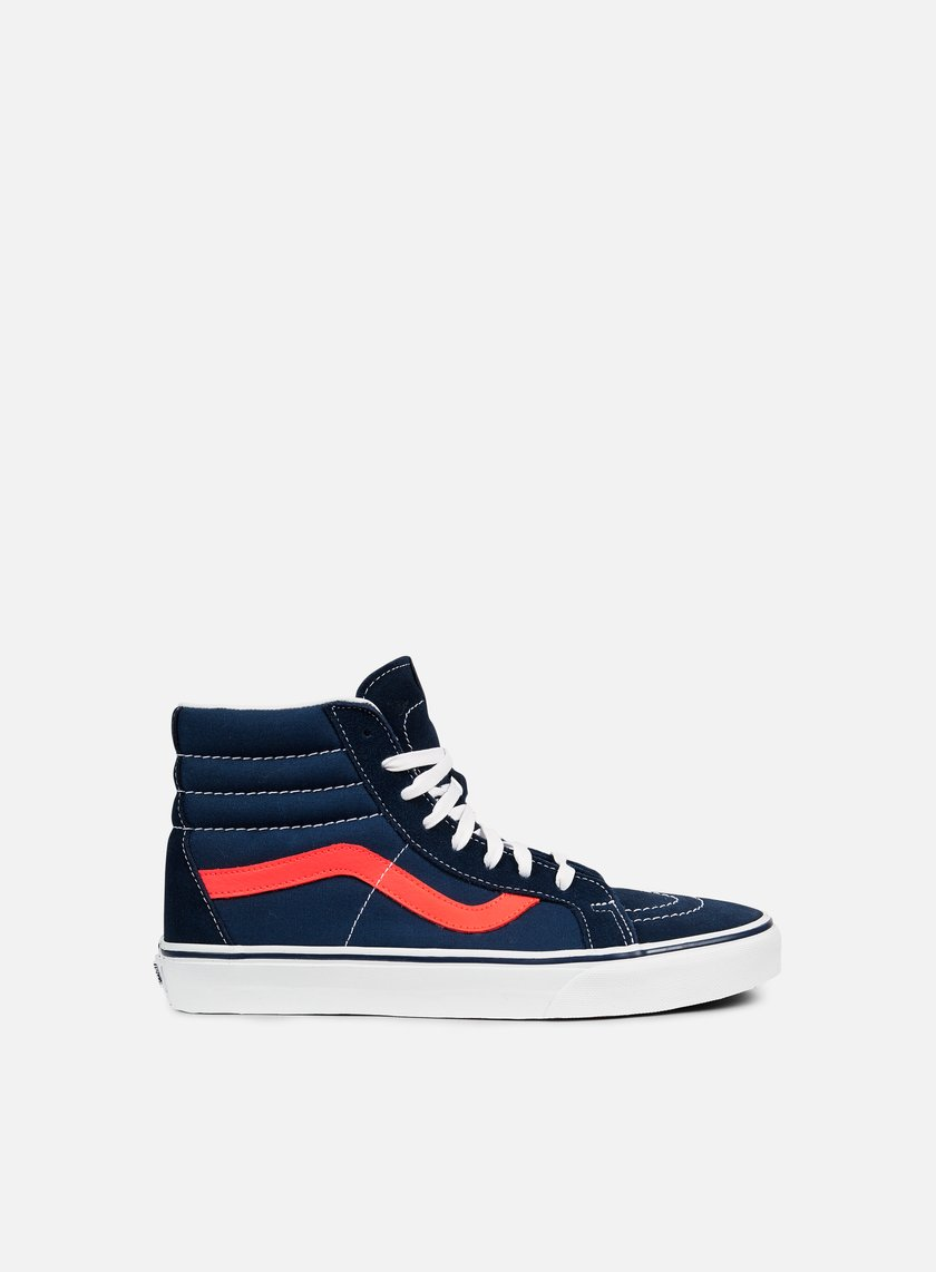 Vans - SK8 Hi Reissue Neon Leather, Dress Blue