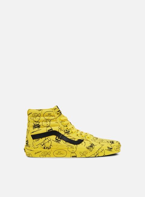 sneakers vans sk8 hi reissue peanuts charlie brown maze