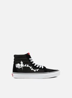 Vans - SK8 Hi Reissue Peanuts, Snoopy Bones/Black 1