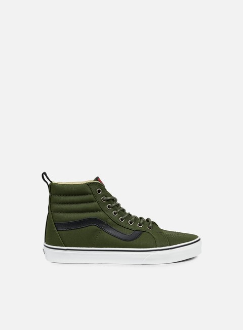 sneakers vans sk8 hi reissue pt military twill rifle green
