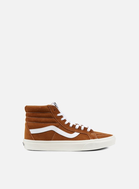 sneakers vans sk8 hi reissue retro sport glazed ginger