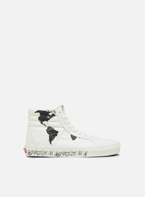 Outlet e Saldi Sneakers Alte Vans Sk8 Hi Reissue Save Our Planet