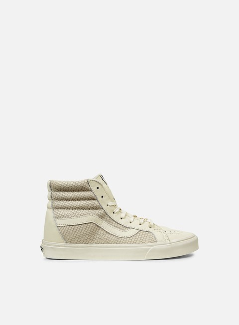 sneakers vans sk8 hi reissue snake leather antique white