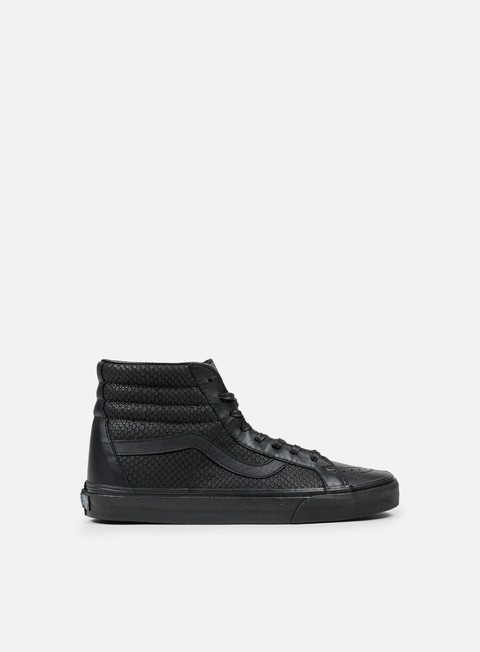 sneakers vans sk8 hi reissue snake leather black