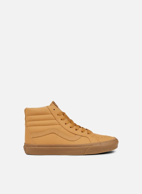 sneakers vans sk8 hi reissue vansbuck light gum mono