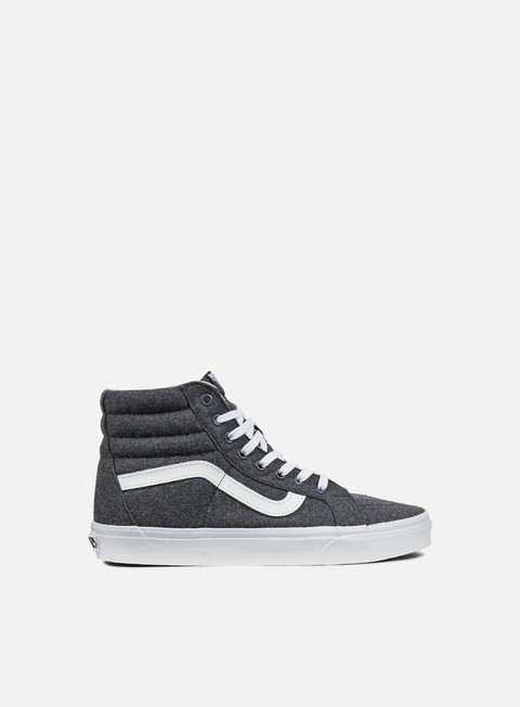 sneakers vans sk8 hi reissue varsity charcoal true white