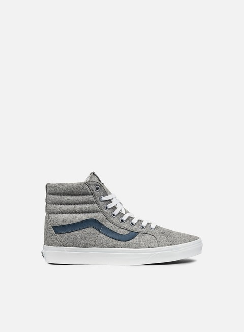 sneakers vans sk8 hi reissue varsity gray true white