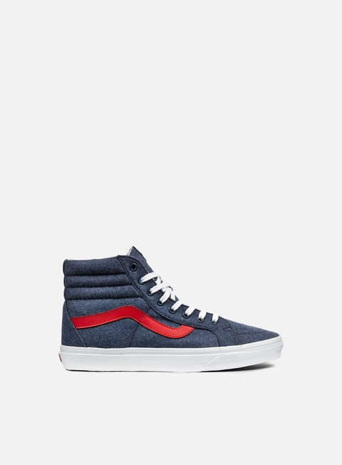 sneakers vans sk8 hi reissue varsity navy true white