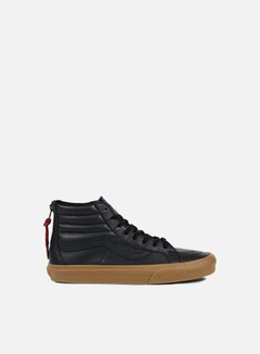 Vans - Sk8 Hi Reissue Zip Hiking, Black/Gum 1
