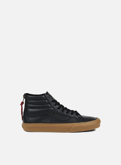 sneakers vans sk8 hi reissue zip hiking black gum