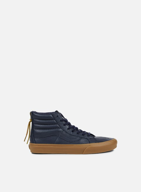sneakers vans sk8 hi reissue zip hiking navy gum