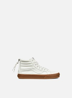 Vans - Sk8 Hi Reissue Zip Hiking, White/Gum 1