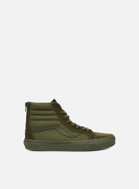 sneakers vans sk8 hi reissue zip mono ivy green